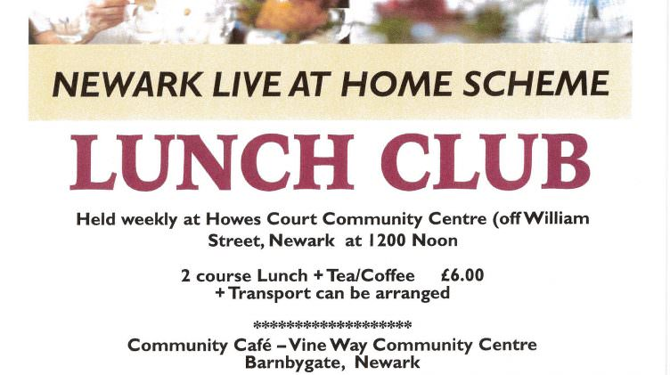 Newark Live At Home – Lunch Clubs