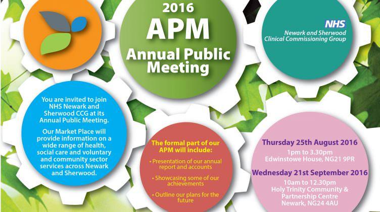 NHS Newark & Sherwood CCG – Annual Public Meeting