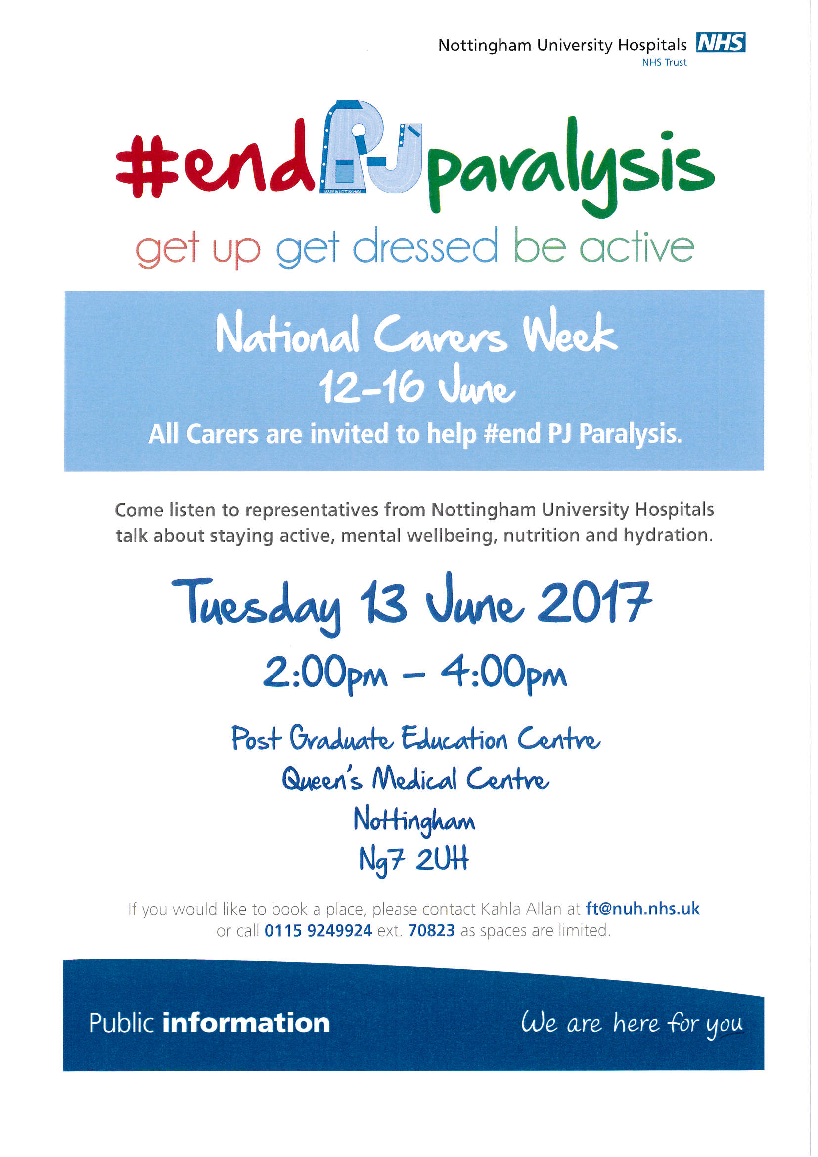 End PJ Paralysis event - Newark & Sherwood Community & Voluntary Service
