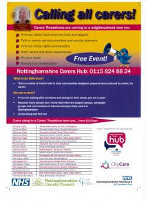 Carer Roadshow Poster 2017 A4